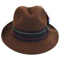 1917 Beaver Fur Felt Trilby Fedora Hat in