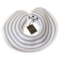 Metallic Stripe Straw Visor in