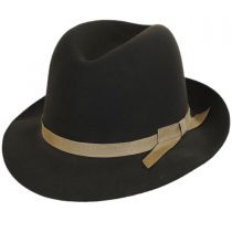 Sightseer Fur Felt Open Crown Fedora Hat alternate view 3