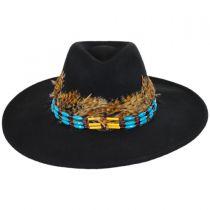 Marne Wool Felt Wide Brim Fedora Hat in