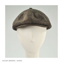Brood Herringbone Wool Blend Newsboy Cap - Brown/Khaki alternate view 17
