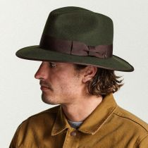 Watts Wool Felt Safari Fedora Hat in