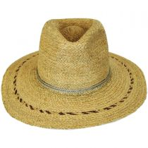Carnaby Raffia Straw Wide Brim Fedora Hat alternate view 2