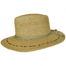 Carnaby Raffia Straw Wide Brim Fedora Hat alternate view 3