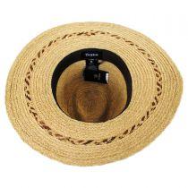 Carnaby Raffia Straw Wide Brim Fedora Hat in