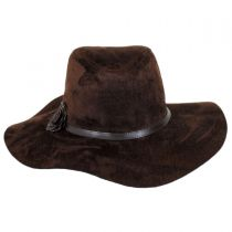 Faux Suede Floppy Fedora Hat in