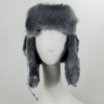 Sasha Faux Leather Trooper Hat in