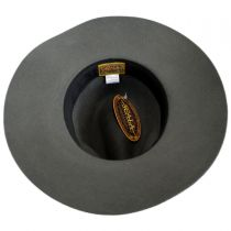 Chain Band Wool Felt Safari Fedora Hat in