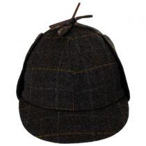 Windowpane Plaid Wool Sherlock Holmes Hat in