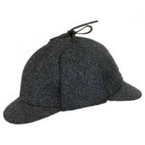Herringbone Wool Sherlock Holmes Hat in