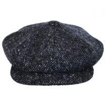 Marl Donegal Tweed Wool Newsboy Cap alternate view 2