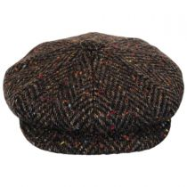 Large Herringbone Donegal Tweed Wool Newsboy Cap alternate view 2