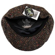 Large Herringbone Donegal Tweed Wool Newsboy Cap alternate view 4