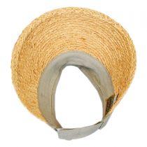 Cotton Band Raffia Straw Visor in