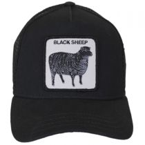 Black Sheep Mesh Trucker Snapback Baseball Cap alternate view 2