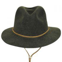 Skylar Wool LiteFelt Chincord Safari Fedora Hat in
