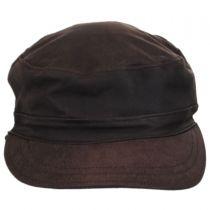 Falconer Lambskin Leather Military Earflap Cap in