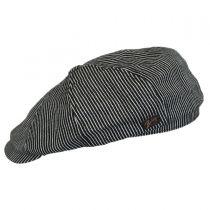 Falc Striped Cotton Newsboy Cap in