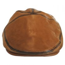 Glasby Lambskin Leather Ivy Cap in