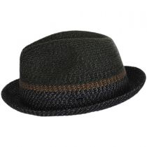 Ragon Toyo Braid Straw Trilby Fedora Hat in