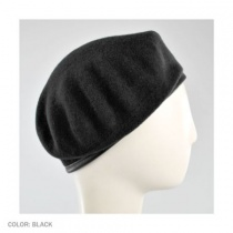 Wool Military Beret with Lambskin Band alternate view 297