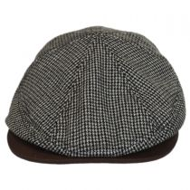 Houndstooth Leather Bill Driver Cap in