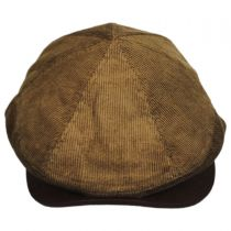 Corduroy Leather Bill Driver Cap in