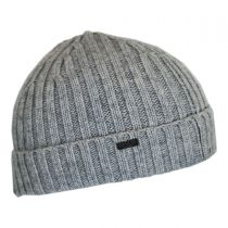 Cashmere Rib Knit Beanie Hat in