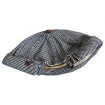 Pinstripe Cotton Skully Beanie Hat in