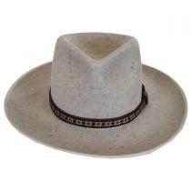 Alpes Wool Felt Wide Brim Fedora Hat in