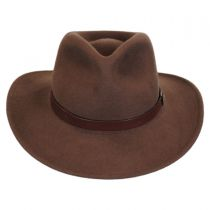Distressed Wool Felt Outback Hat in