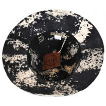 Black and White Wool Felt Safari Fedora Hat in
