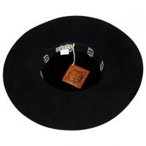 Rosette Wool Felt Floppy Hat in