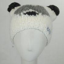 Panda Knit Beanie Hat in