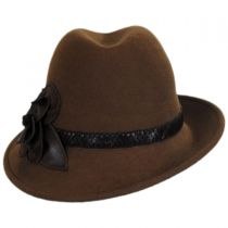 Rose Profile Wool Felt Fedora Hat alternate view 3