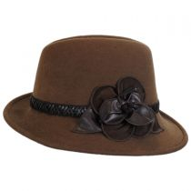 Rose Profile Wool Felt Fedora Hat in