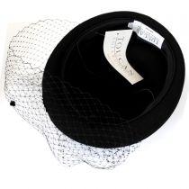 Veil Wool Felt Pillbox Hat in
