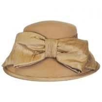 Silk Bow Wool Felt Lampshade Hat in