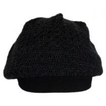Peyton Cotton Crochet Knit Beret alternate view 2