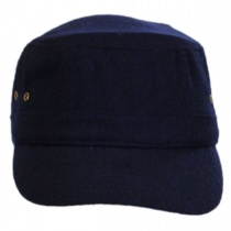 Essential Wool Blend Military Cadet Cap in