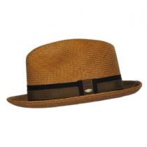 Two-Tone Band Panama Straw Trilby Fedora Hat alternate view 3