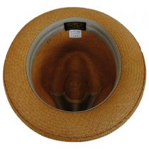 Two-Tone Band Panama Straw Trilby Fedora Hat alternate view 4