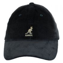 Logo Corduroy Strapback Baseball Cap Dad Hat in