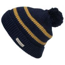 Auroras Lights Pom Knit Beanie Hat in