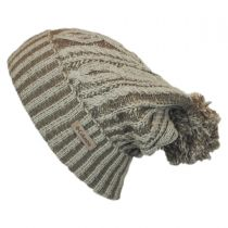 Blizzard Pass Pom Knit Beanie Hat in