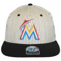 Miami Marlins MLB Woodside Stripe Snapback Baseball Cap alternate view 2
