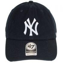 New York Yankees MLB Ridge Clean Up Strapback Baseball Cap Dad Hat alternate view 2