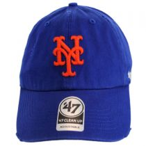 New York Mets MLB Ridge Clean Up Strapback Baseball Cap Dad Hat alternate view 2