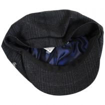 Windsor Check English Tweed Wool Newsboy Cap alternate view 4