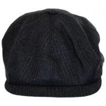 Windsor Check English Tweed Wool Newsboy Cap in